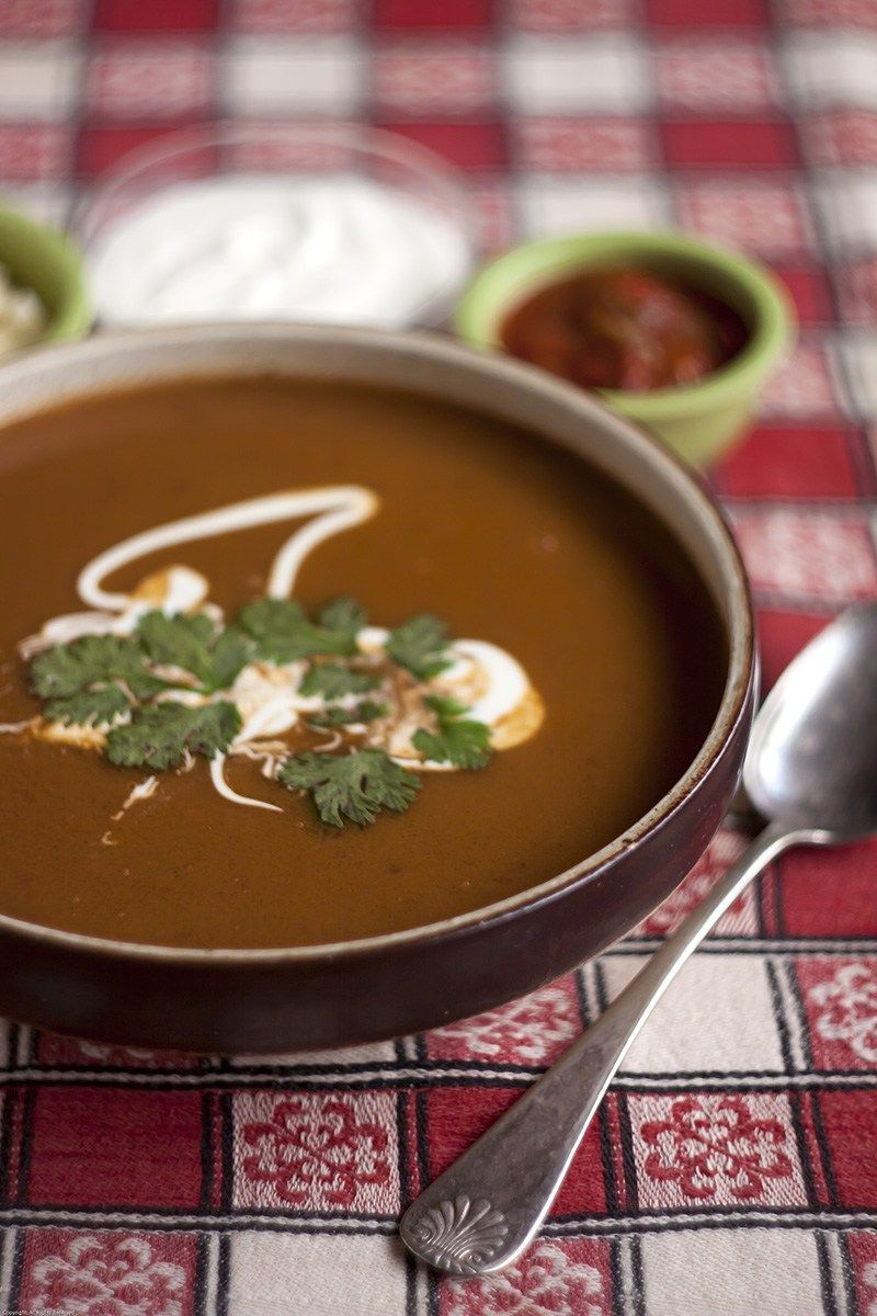 Smoky Butternut Squash and Cacao Soup