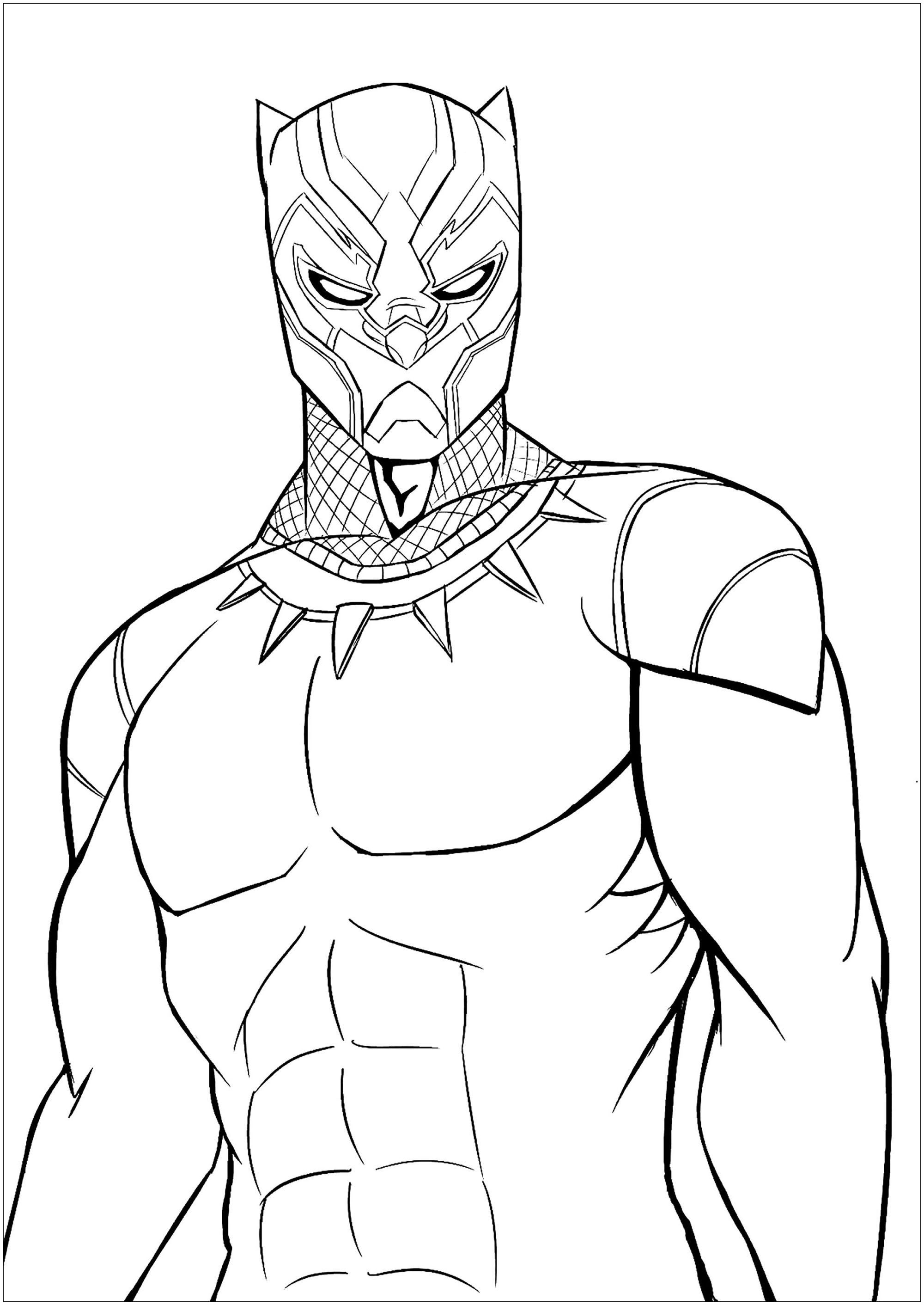Black Panther Coloriage 10 Sympathique Black Panther Coloriage