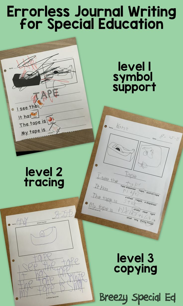 001 Errorless journal writing to help students express their