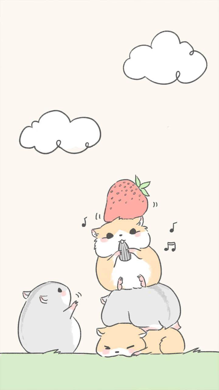 Sketch Hamster Cute Cartoon Wallpapers Hamster Cartoon Cute Drawings