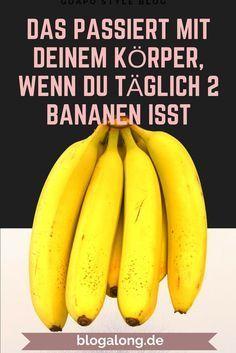 Das passiert mit deinem Körper, wenn du täglich 2 Bananen isst