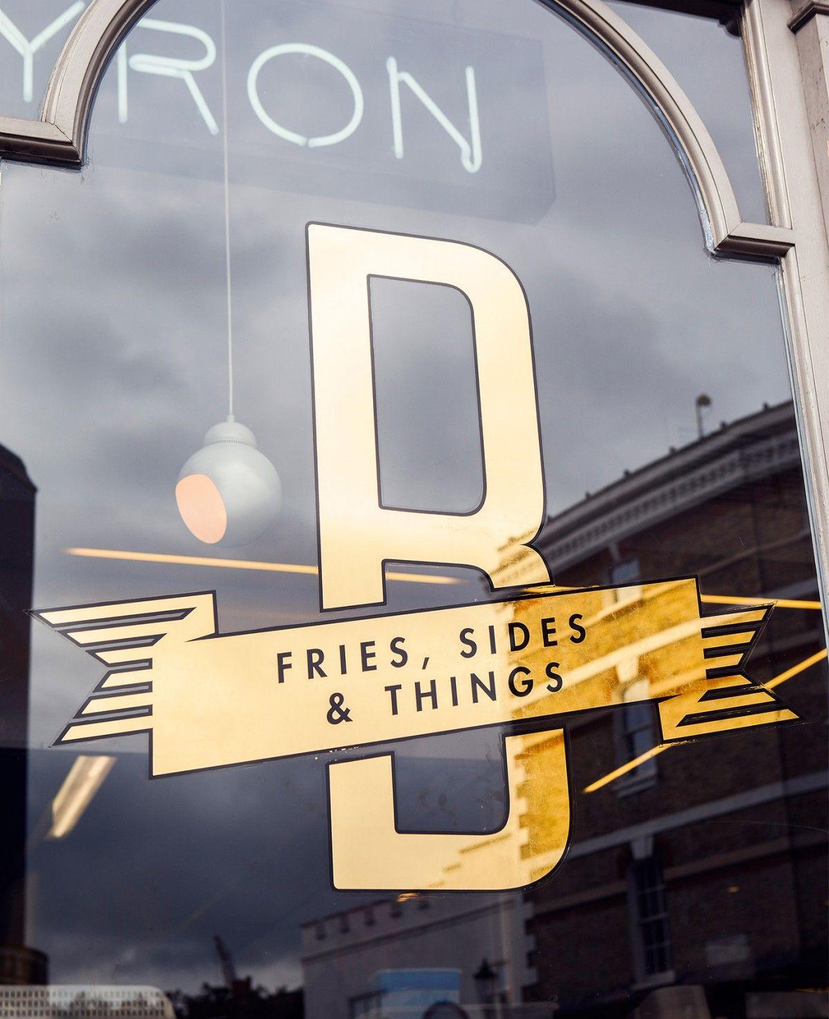 Byron Signage Designed By Charlie Smith Design. Gold Vinyl