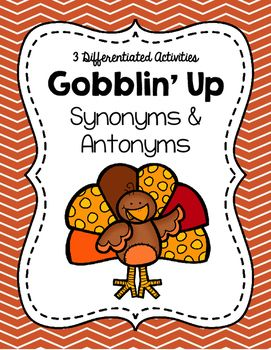 Gobblin' Up Synonyms and Antonyms | Thanksgiving/Fall