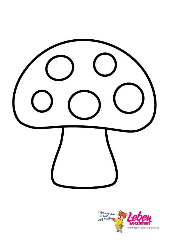 pilze zum ausmalen und ausdrucken 02  Herbst  Pinterest