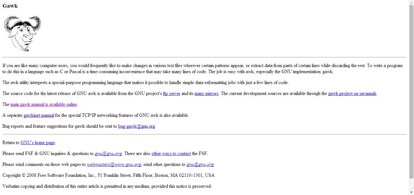 459fe6c7f Gawk - GNU Project - Free Software Foundation (FSF)
