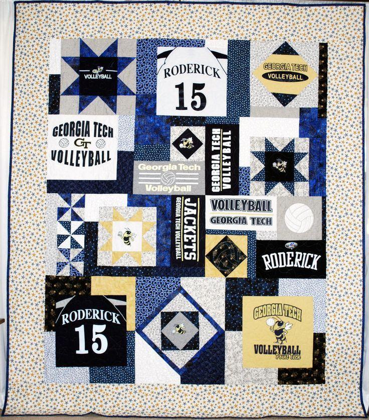 T Shirt Quilt Pattern Book : Probably the best t-shirt quilt Ive seen. artful ideas Pinterest Shirt quilts, Sewing ...
