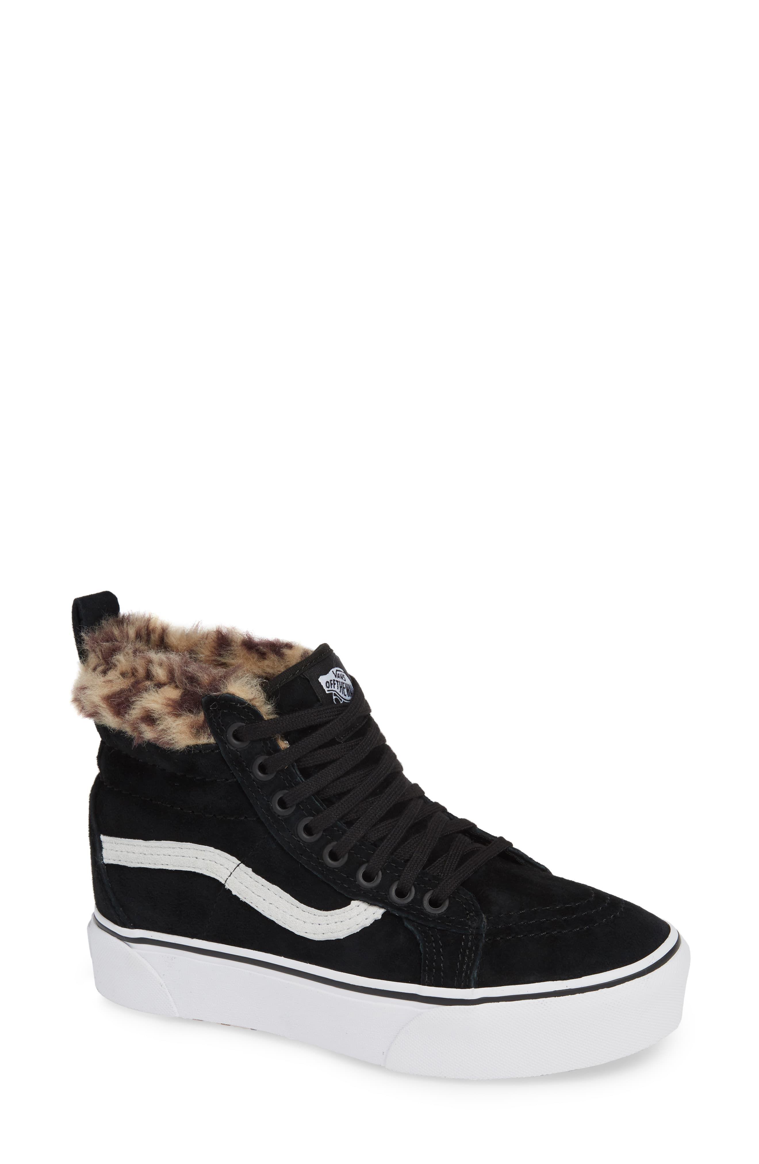 c29fec6b6 Women's Vans Sk8-Hi Faux Fur Lined Platform Sneaker, Size 7.5 M - Black