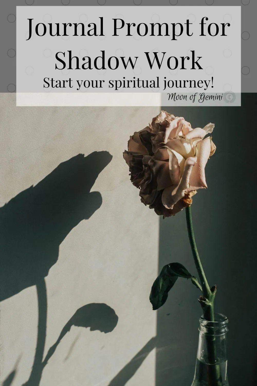 Shadow Work Journal Prompt for Spiritual Awakening • Moon
