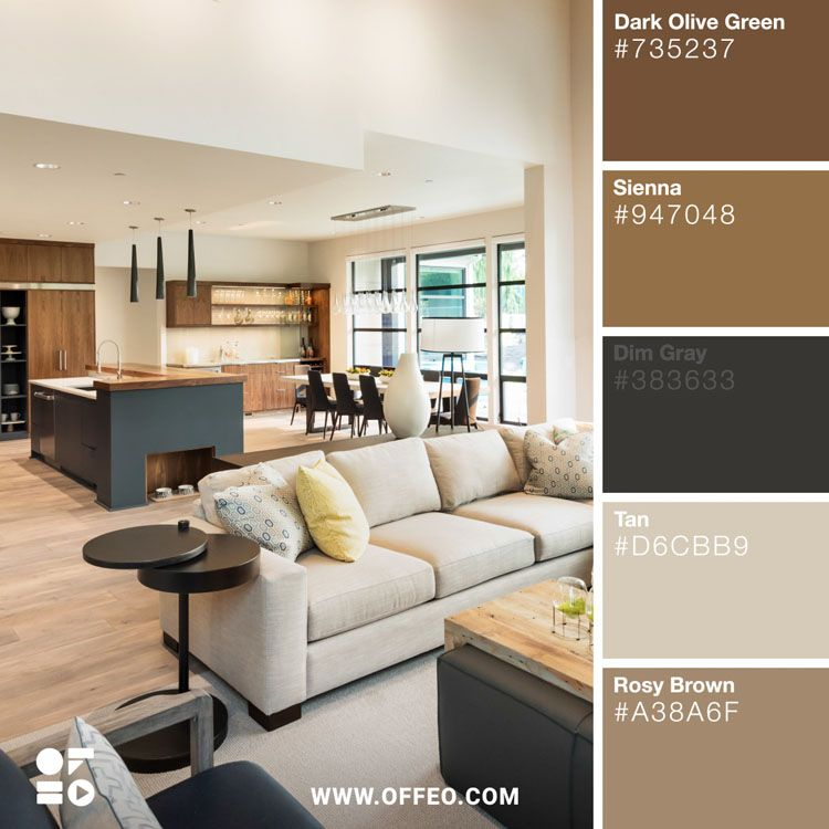 20 modern home color palettes to inspire you living room on interior color combinations for homes id=34270