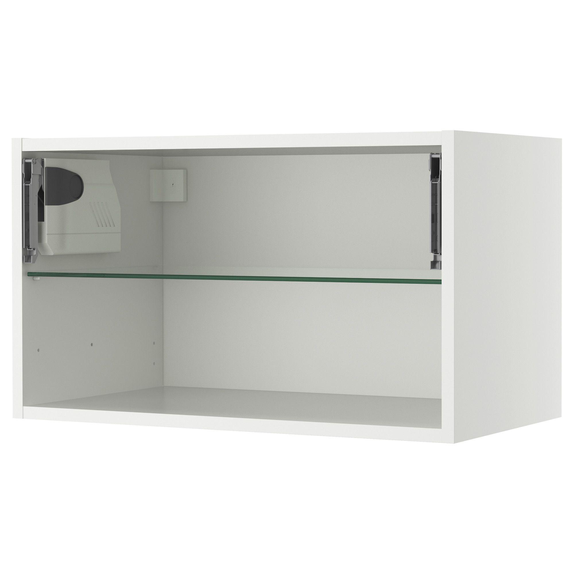 AKURUM Wall cabinet frame-horizontal - white, 30x15 \