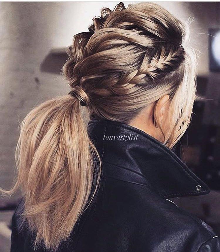 Sick Braided Ponytail Multiple Braids In 2020 Hair Styles Long Hair Styles Thick Hair Styles