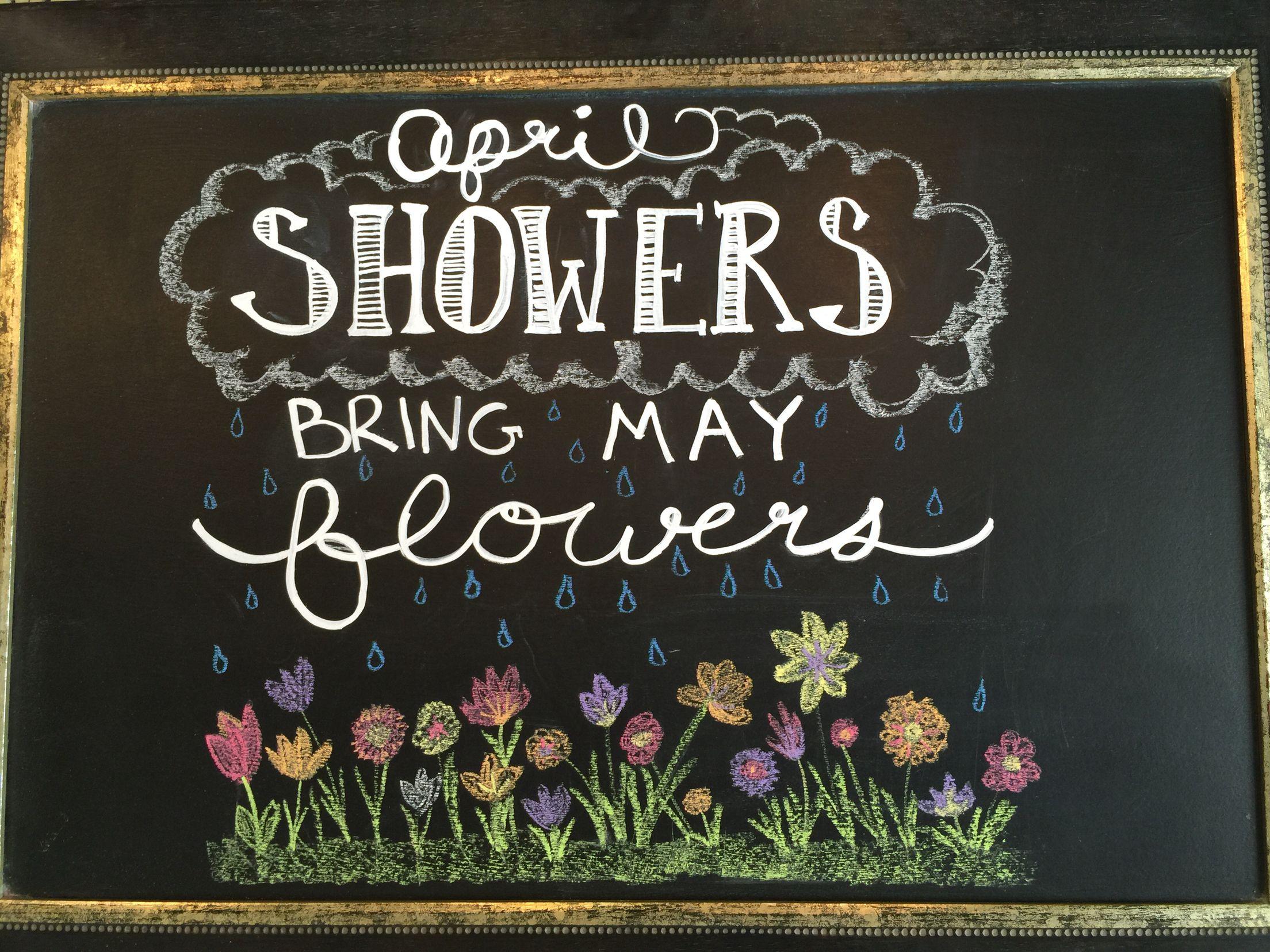 April Chalkboard