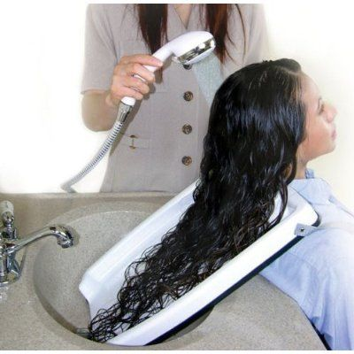 Hair Washing Tray For Home Or Salon Use With Chair Or Wheel