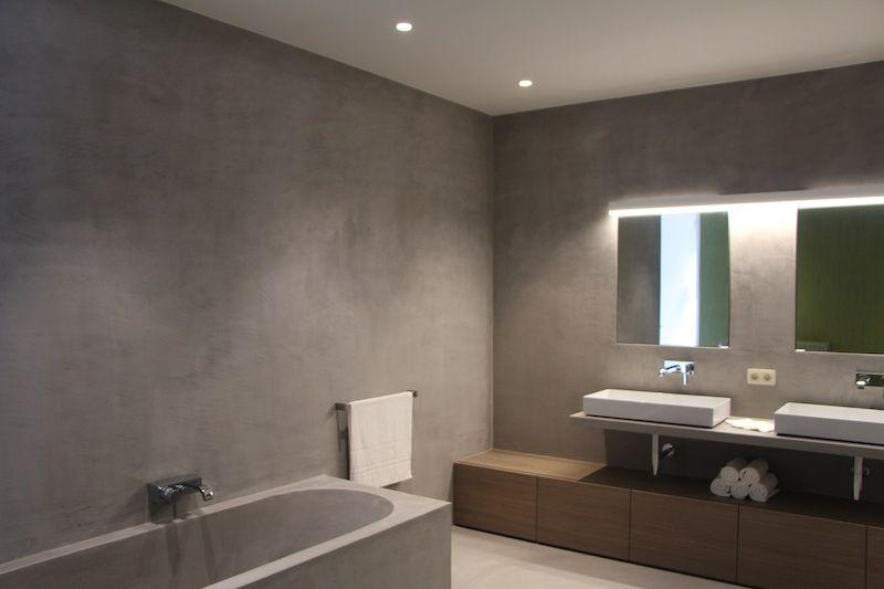Badkamer Nieuwbouw Texture Painting Alle Mortex Toepassingen En Schilderwerken Van Een Hoogwaardige Kwaliteit Mortex Salle De Bain Et Resine Sol