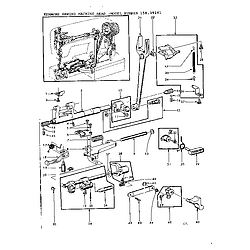 Kenmore Kenmore Sewing Machine Head Parts Model 15819141 Sears Partsdirect Sewing Machine Parts Sewing Machine Kenmore