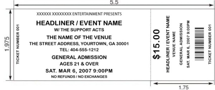 Blank Event Ticket Clip Art Google Search Event Ticket Template Ticket Template Movie Ticket Invitations