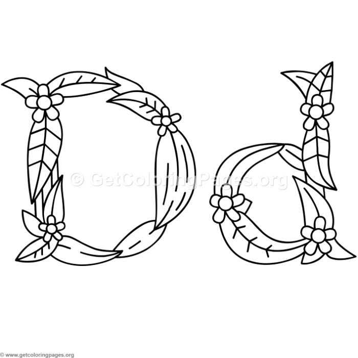 Free Download Flower Island Alphabet Letter D Coloring Pages Coloringbook Coloringpages