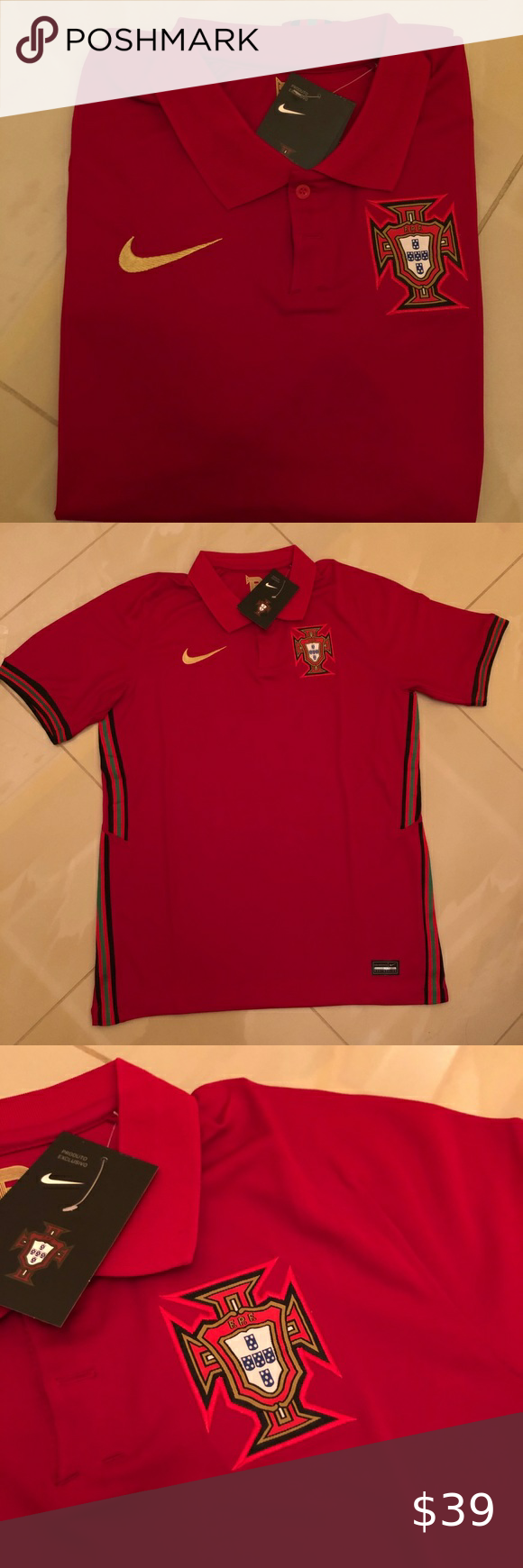 Portugal Home Soccer Jersey 2020 Nwt En 2020