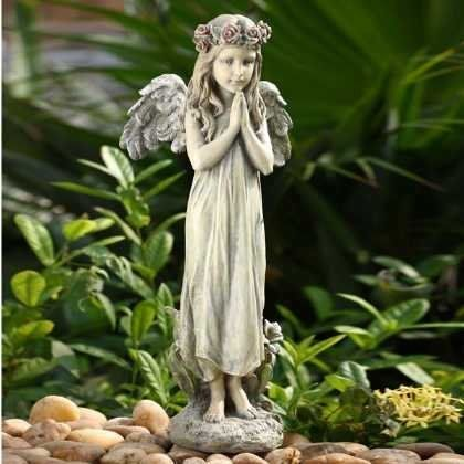 19 Adorable Praying Angel Outdoor Patio Garden Statue By 400 x 300