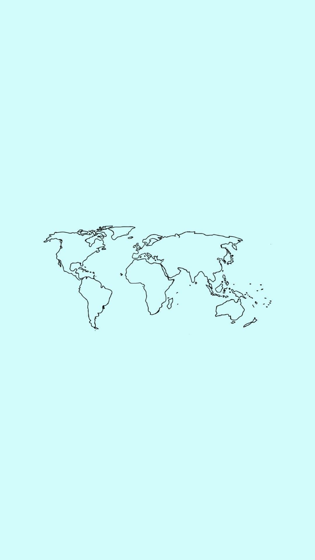 World Map Wallpaper In 2020 World Map Wallpaper Mint Green Wallpaper Map Wallpaper