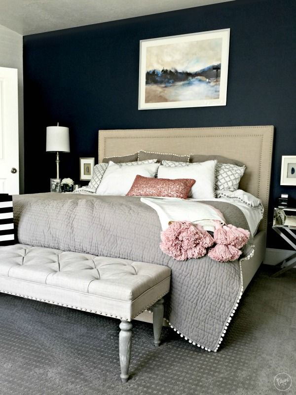 Best Navy And Blush Master Bedroom Blue Master Bedroom 400 x 300