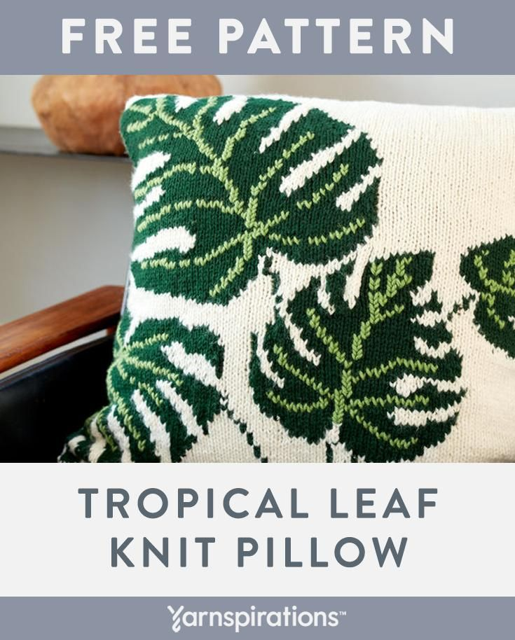 Practise your intarsia knitting skills with this gorgeous pillow pattern. #yarns…