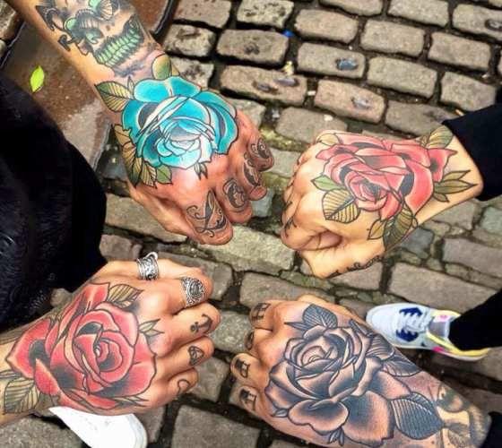 eb2a031bc Traditional Hand tattoos by Matt Webb | Flower Tattoo's | Hand ...