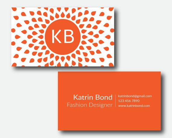 Business card photoshop template orange business card personal business card photoshop template orange business card personal business cards accmission Image collections