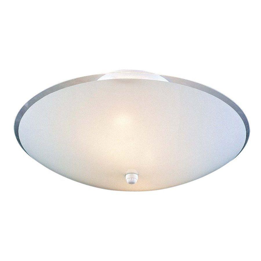 Hallway flush mount lighting  Volume International In W White Frosted Glass SemiFlush Mount