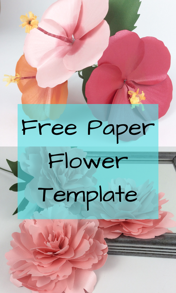 Free paper flower template- DIY paper flowers - Easy paper flower- Paper crafts