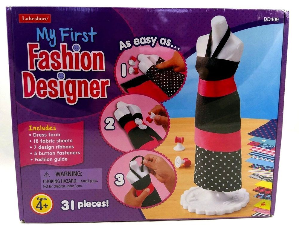 New Kid S My First Fashion Designer Lakeshore Dress Form Fabric Easy Craft Toy Lakeshore Fashionclothingoutfitsdesignerc With Images Easy Crafts Toy Craft Fashion Design