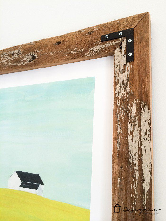 how to make a diy picture frame from upcyled wood - Diy Wood Frame