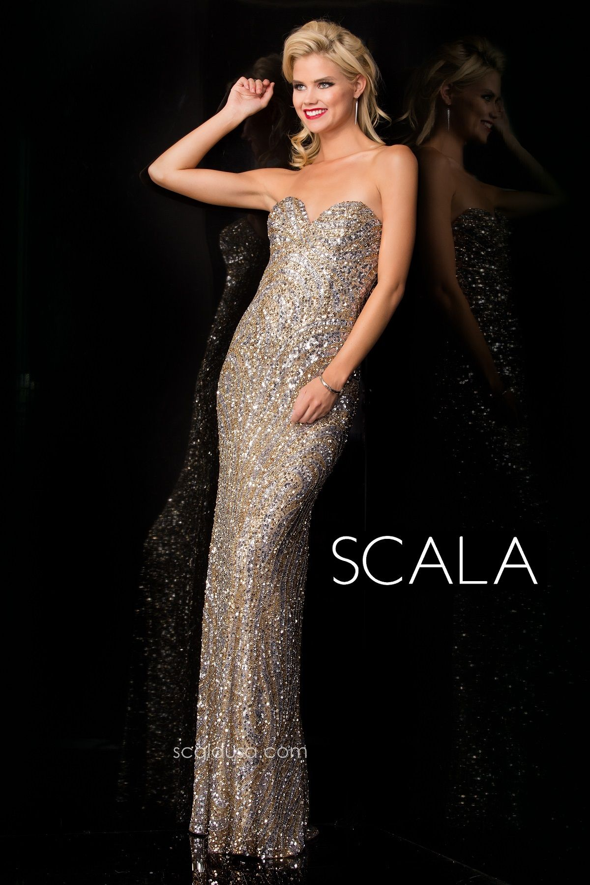 Wear to wedding dresses  SCALA style  LeadSilverGold PromK Spring Prom
