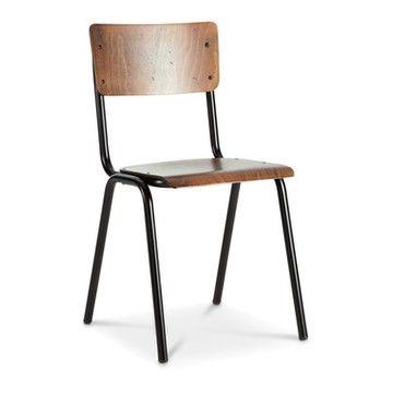 Stuhl Levi Schwarz Metall Pulverbeschichtet 16039500 0 Stuhle Stuhl Metall Online Mobel