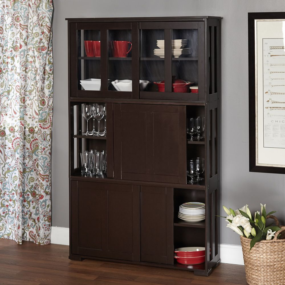 Simple Living Sliding Door Stackable Cabinet - Overstock™ Shopping ...