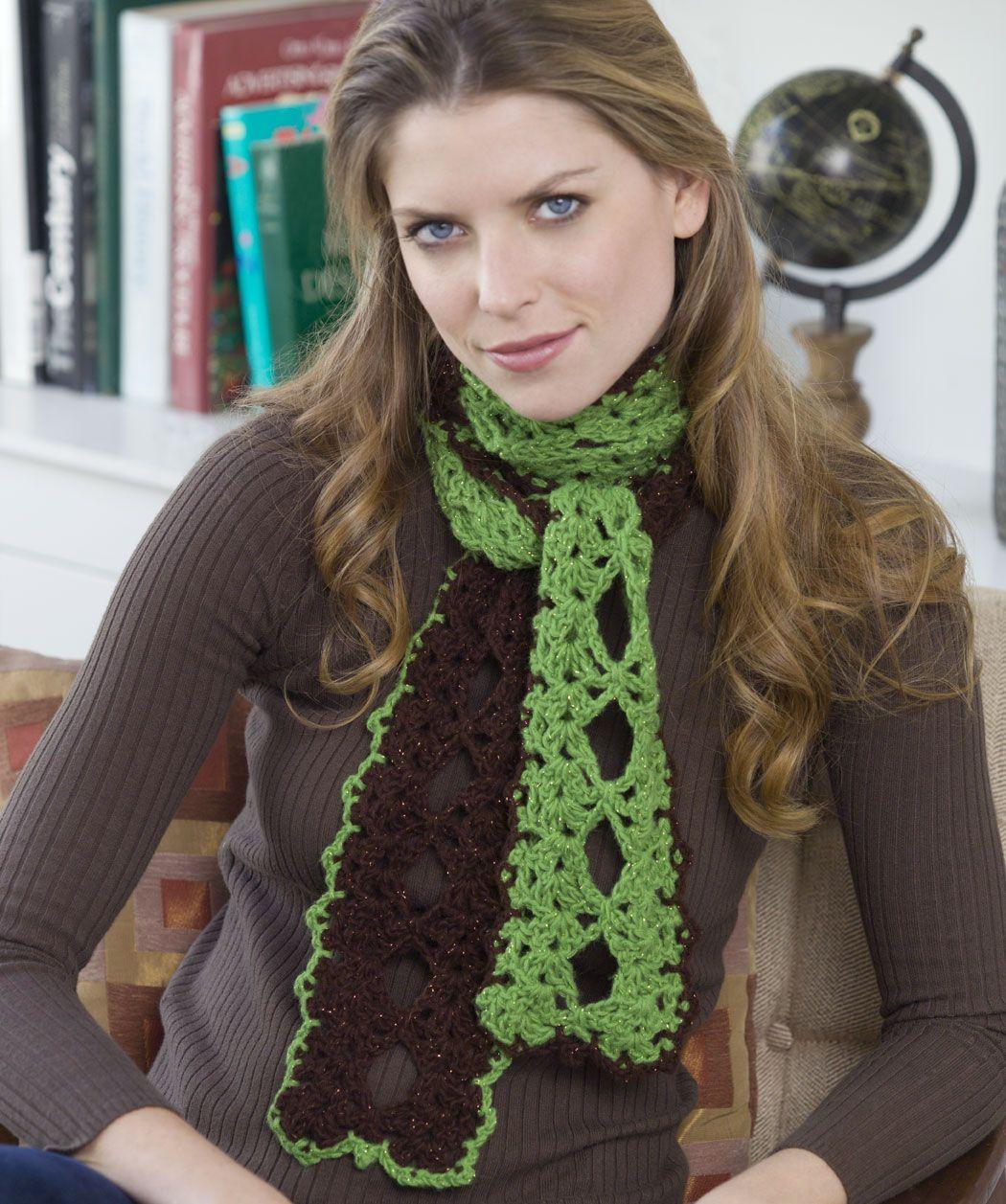 Two Part Harmony Scarf Crochet Pattern | Red Heart | Crochet ...