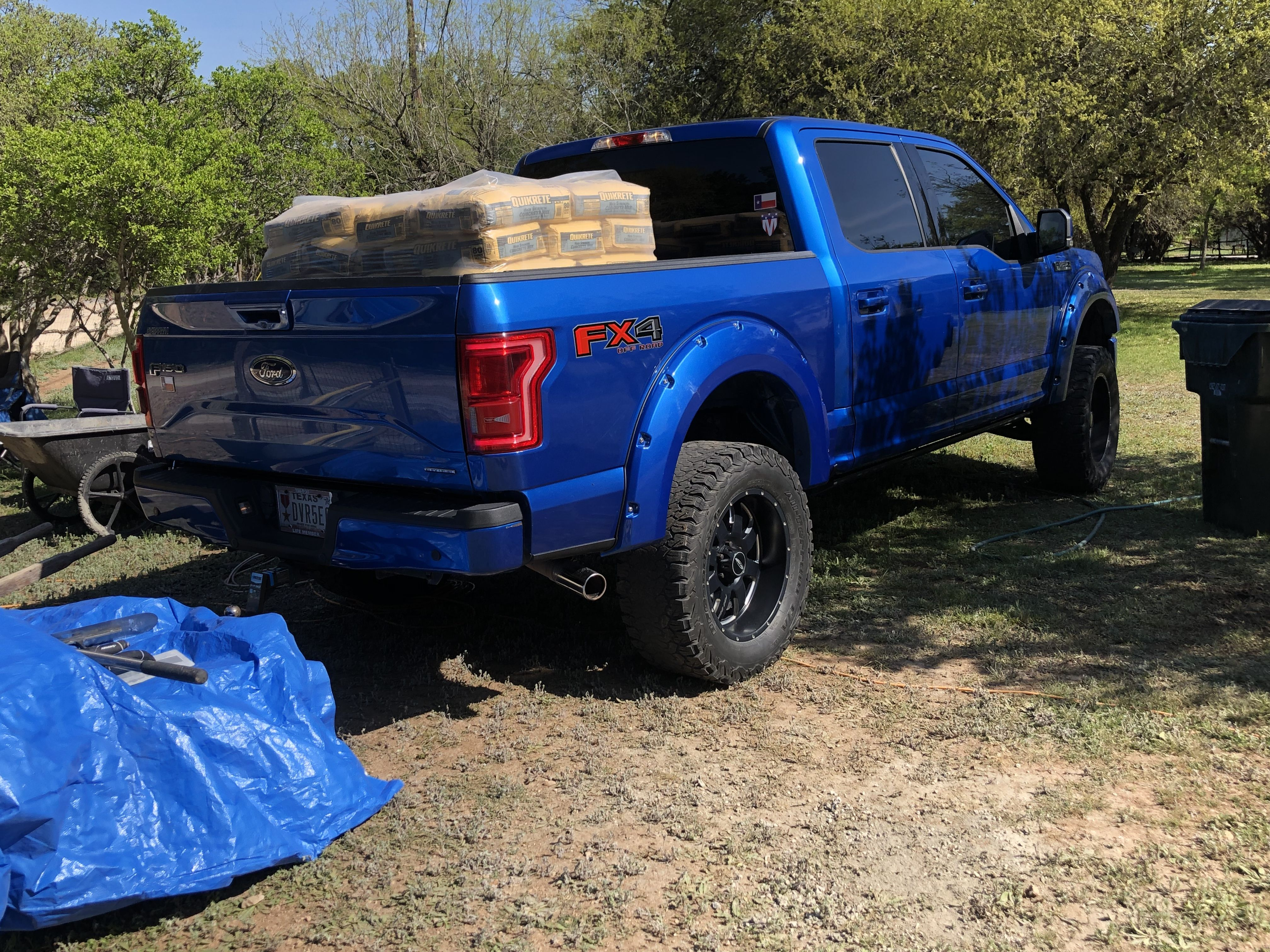 42 X 80 Bags Of Quikrete Not Bad 2015 Ford F150 Ford F150 Monster Trucks