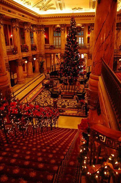 Christmas at The Jefferson Hotel, Richmond, Virginia. so beautiful