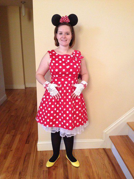 #halloween #minniemouse #polka dots #red