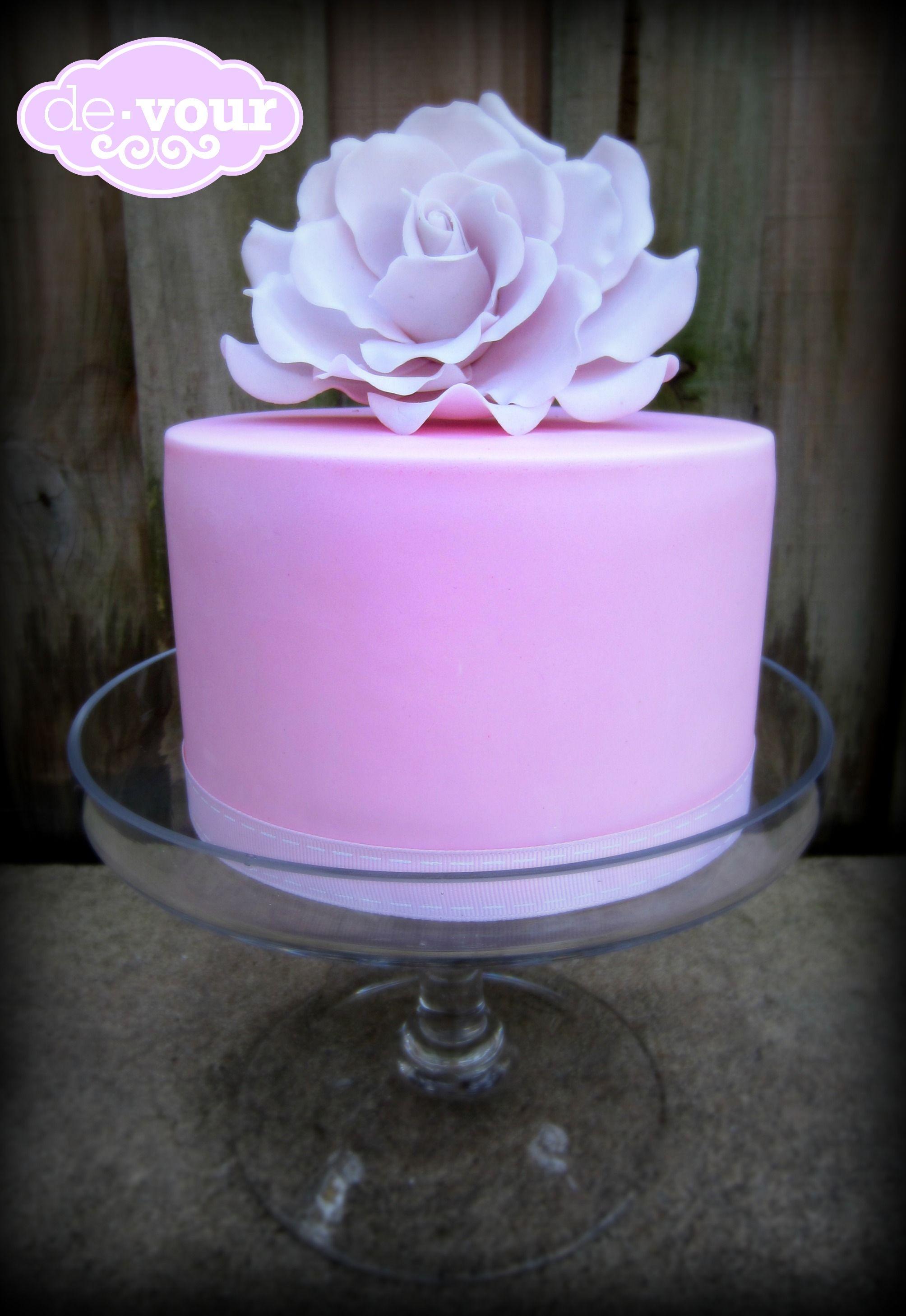 Rose Cake Pink Cake Birthday Cake For Girls