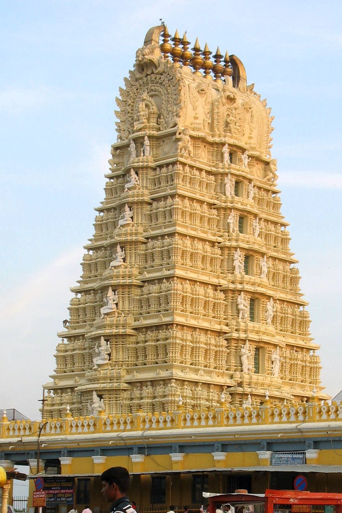 A Dravidian Temple in Ancient India in Bangalore | Indian temple architecture. Ancient india. Ancient architecture