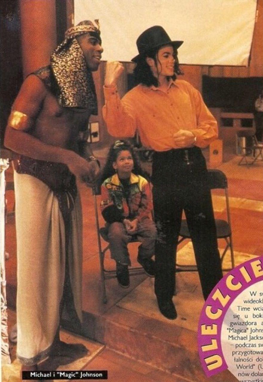 Michael Jackson and Magic Johnson