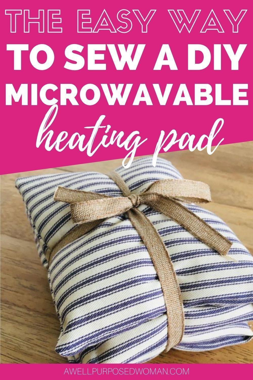 30 minute diy microwavable heating pad in 2020 diy rice