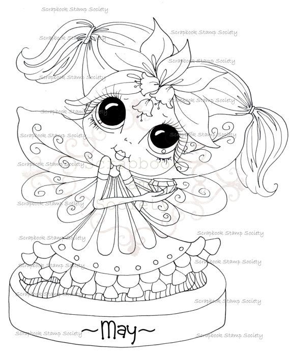 instant download digital digi stamps big eye big head dolls digi my