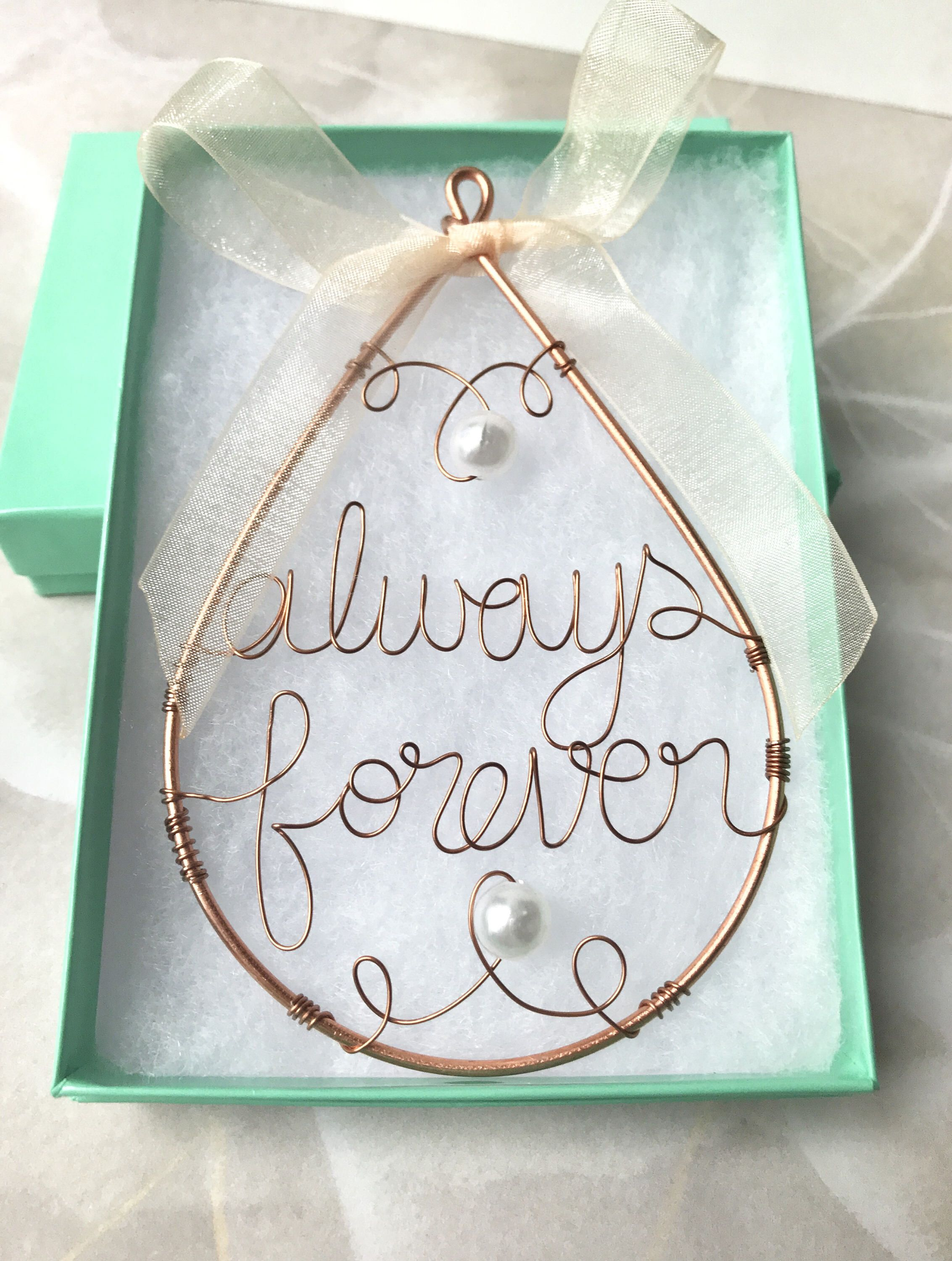 Always & forever Wire art, great wedding gift | Hazel Creations ...