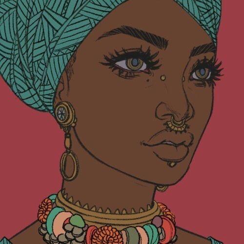 Dessin De Femme Africaine Épinglé par ndeye sur ✐ dʀαωιиgs aи∂ aʀт ✎ | art, black girl art
