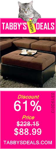 Harlow Two Tone Ottoman by Coaster Furniture $88.99