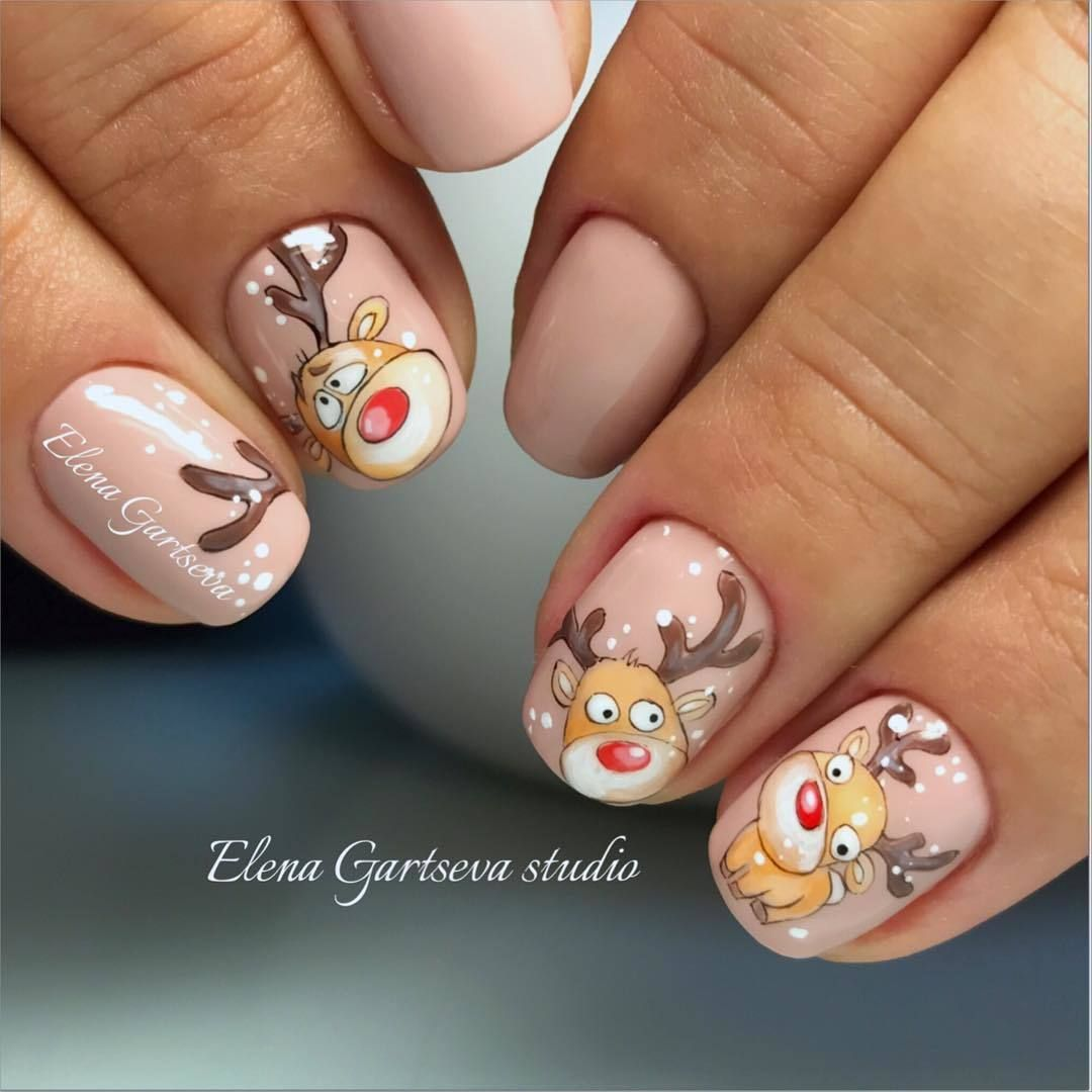 Pin by Helen ... Ελενάκι ♥ on Christmas nails | Pinterest ...
