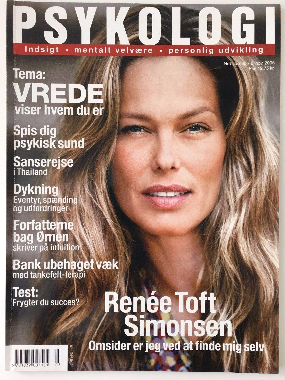 RENEE SIMONSEN FRONT COVER PSYKOLOGI MAGAZINE DENMARK 2005