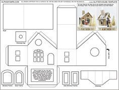 Glitter House Template Collage Sheet   Pinteres